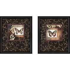 Paragon Butterfly Collage by Goldberger Traditional Art Set - Butterfly Series