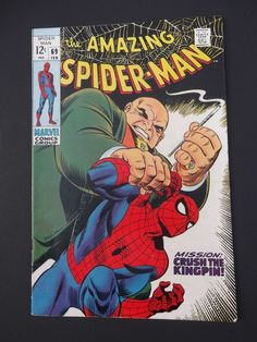 Amazing Spider-Man #69! Silver Age! 1969! Kingpin! Marvel! Stan Lee! John Romita