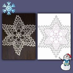 Best 7 Czas na biel. Nie każdy jak ja ma czerwon ą choinkę. Więks – SkillOfKing.Com Crochet Snowflake Pattern, Crochet Stars, Crochet Snowflakes, Crochet Motif, Crochet Doilies, Crochet Flowers, Crochet Christmas Ornaments, Christmas Crochet Patterns, Holiday Crochet