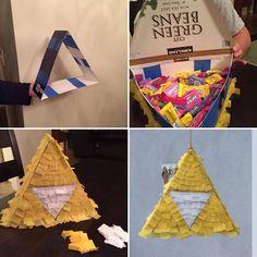 Zelda triforce piñata Zelda party