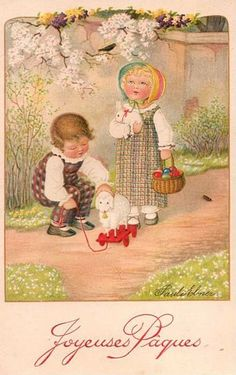 Happy Easter Postcard - Pauli Ebner