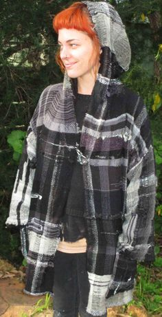 Jacket freeform saori style weaving. variety of yarns https://www.facebook.com/pages/Winjanaroad-Studio/1425387581038706