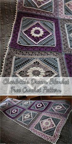 Charlotte's Dream Blanket - Free Crochet Pattern #crochet #motif #crochetpattern