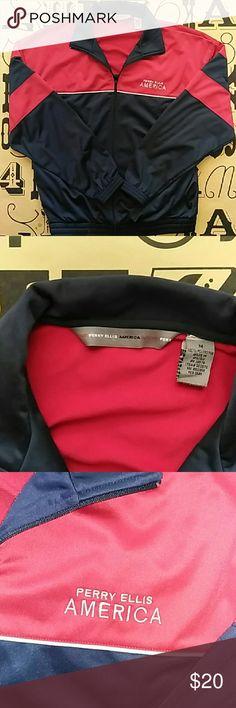 Perry Ellis America active Jacket Gently used Perry Ellis America active jacket size medium. Perry Ellis Jackets & Coats Lightweight & Shirt Jackets