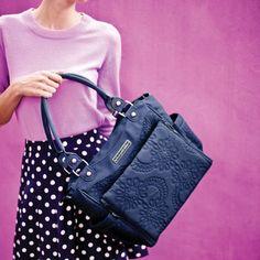 Maya's Pick: Petunia Pickle Bottom Waterloo Stop City Carryall #diaperbag #monacoblue #fashion