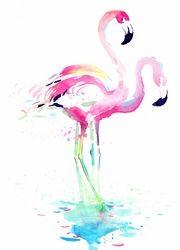 Watercolour Flamingo Canvas Print - Ready to Hang $150.00 www.wallartroad.com.au #wallartroad #animals