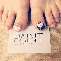 Cute, Bride and Groom Toe Nail Art