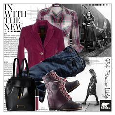 """""""The 1964 Premium Wedge from SOREL: Contest Entry"""" by cjfdesign ❤ liked on Polyvore featuring мода, SOREL, Crate and Barrel, maurices, IANUX, Marc by Marc Jacobs и sorelstyle"""