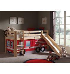 Magnifique lit mezzanine de couleur bois nature! Ce lit est fortement apprécié car d'une part, il convient aux filles comme et garçons et d'autres part sa so...