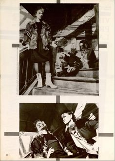 VIRGIN PRUNES For Gloria (French) magazine - February / March 1983