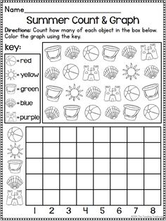 Summer Kindergarten Pack ~ Print & Go ~ Ccss Aligned