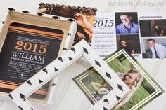 Here is a super easy and fun tutorial by @vanessabrady on making a Graduation Keepsake Box, perfect for storing all their gorgeous graduation announcements!