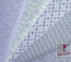 5 motifs, Lavishmint, lavande, Camelot Fabrics, bundle, 1 de chaque motif