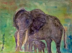 Elephant  Water color over paper