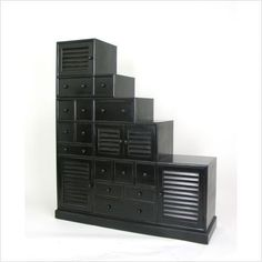 Another style of step cabinets...storage that's stylish too.