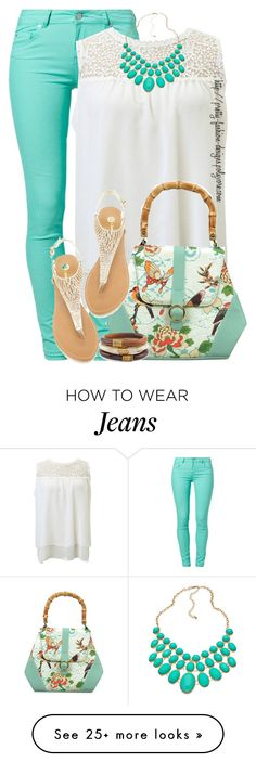"""~  Jeans & Sandals  ~"" by pretty-fashion-designs on Polyvore featuring SuperTrash, Blu Bijoux and Chico's"