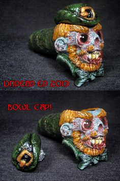 Zombie Leprechaun Converted Hand Blown Glass Pipe By by ZoomBiez, $95.00