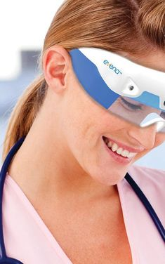 """Real Life X-Ray Glasses that are not designed to look under your clothes but under under your Skin, This medical tool can help doctors to examine sub epidermic abnormalities, or """"simply"""" locate veins. No more need to probe the needle."""
