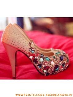 2012 Trendige schöne Brautschuhe mit Kristall 10cm