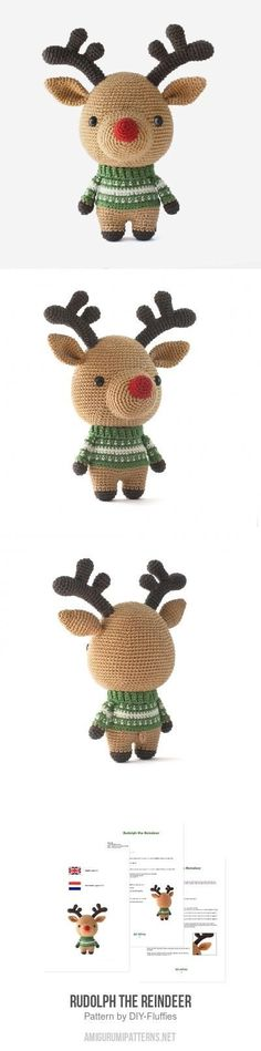 Rudolph the Reindeer amigurumi pattern