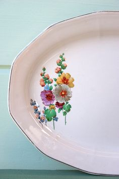 Flower China Serving Plate