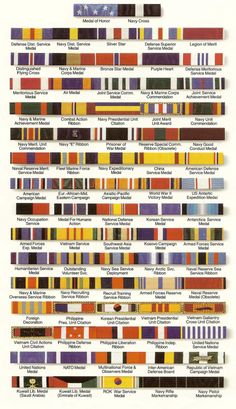 ties inspired by military medals and ribbons