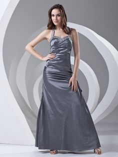 Taffeta Sweetheart Halter Floor Length Beading Princess Evening Dress on www.nextdress.co.uk