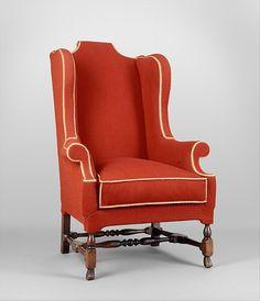 Easy chair, 1715-30. American.  The Metropolitan Museum of Art, New York. Gift of Mrs. J. Insley Blair, 1950 (50.228.1)