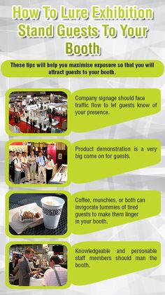 How To Lure Exhibition Stand Guests To Your Booth - Infographic
