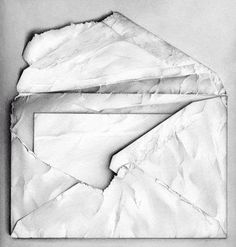 Pencil drawing by Cath Riley. Letter envelope