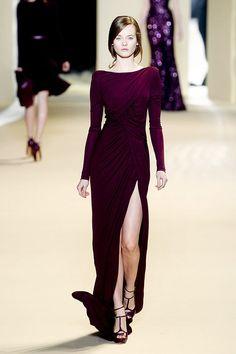 aubergine colored #dress by Elie Saab Fall 2011