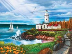 Lighthouse Cove (Puzzle Collector Art 1000)
