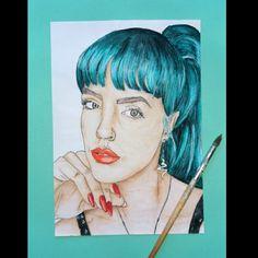 Art For Sale, Watercolor Paintings, Fan Art, Portrait, Artwork, Work Of Art, Water Colors, Auguste Rodin Artwork, Portrait Illustration