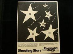 Vintage Crossman Shooting Stars Shooting Games Target. $4.00, via Etsy.
