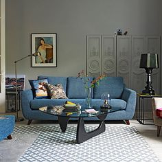 Discover stylish living room design ideas on HOUSE - design, food and travel by House & Garden. From colour to decor, living room pictures to inspire. Living Room Grey, Living Room Decor, Living Rooms, G Plan Living Room, G Plan Sofa, Chandelier In Living Room, Large Sofa, Living Room Pictures, 3 Seater Sofa