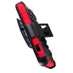 Alcatel one touch sonic A851L hybrid black/red hard plastic belt clip phone case