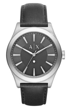 d88409ec41c7 AX Armani Exchange Leather Strap Watch