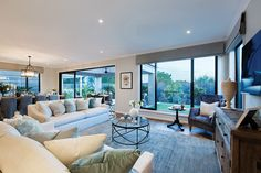 Family room in the Plaza with a Champagne France World of Style. Interior Styling, Interior Decorating, Interior Design, Interior Ideas, Decorating Ideas, Two Storey House Plans, Porter Davis, Storey Homes, New Home Designs