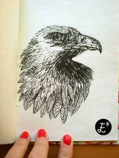 Eagle sketch ESTRELLA A.C www.lashuellasdeestrella.blogspot.com www.facebook.com/estrellaacdesign