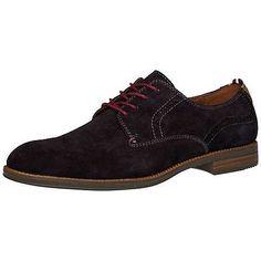 Klassischer Tommy Hilfiger Schuh aus Velourleder und mit Schnürung. Der Absatz ist in Holzschichtoptik.98% Velours, 2% Leder...