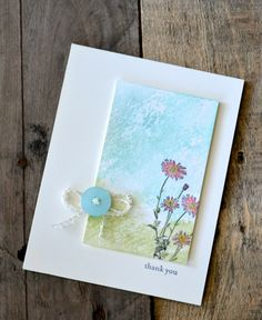 "By Jennifer Timko, featuring Stampin' Up! ""Springtime Hello"" stamp set, a gorgeous Thank You card ..."