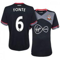 Southampton Away 16-17 Season #6 Fonte Black Soccer Jersey [J240]