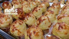 Şefinden Patatesli Top Kek (bu Tarifi Kaçırmayın) Baked Potato, Sprouts, Potato Salad, Food And Drink, Pasta, Baking, Vegetables, Ethnic Recipes, Bakken