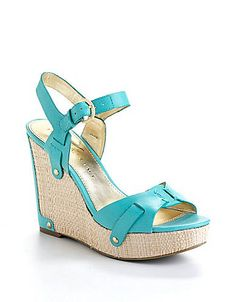 Hollyann Leather Wedge Sandals | Lord and Taylor