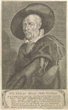 Jan Veenhuysen   Portret van de Vlaams letterkundige Petrus Vliege, Jan Veenhuysen, Adriaen Possemiers, 1662 - 1666  