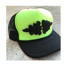 Neon green trucker hat Custom Made Hats, Neon Green, Riding Helmets, Style Inspiration, Fantasy, Etsy, Fashion, Moda, Fashion Styles