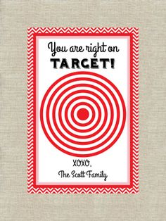 Personalized Target Gift Card Holder Printable - Thank You Card - Valentine's Gift Card - Teacher Card - Valentine's Day - Digital File