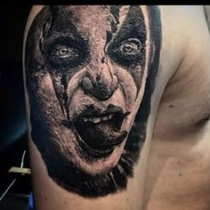 In progress! Scary clown done a while back  #ellenwestholm