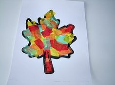 Tissue Paper Fall Leaf Craft For Kids