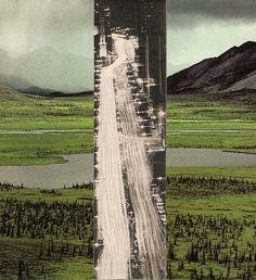 Cette image ci-dessus représente l'évolution. Auparavant, il y avait que des champs, maintenant ce sont des autoroutes, des villes, etc. Je trouve cette photo très esthétique puisqu'elle représente le présent. Peut-être que certain ce renderont compte de la gravité de la situation suite a cette photo. De plus, le contraste de couleur rend la photo encore plus percutante.